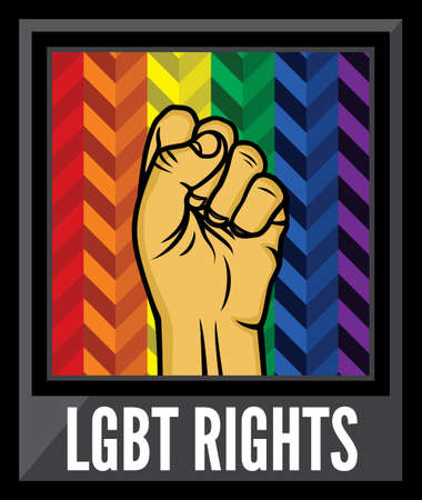 trans gender: Lgbt rights poster vector fist Illustration