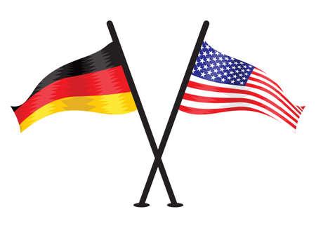 Germany and USA vector flag Vector