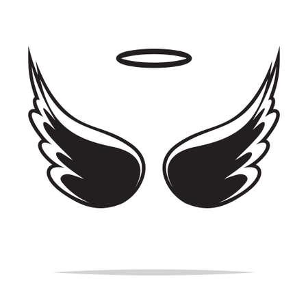 ali angelo: Ali d'angelo illustrazione vettoriale