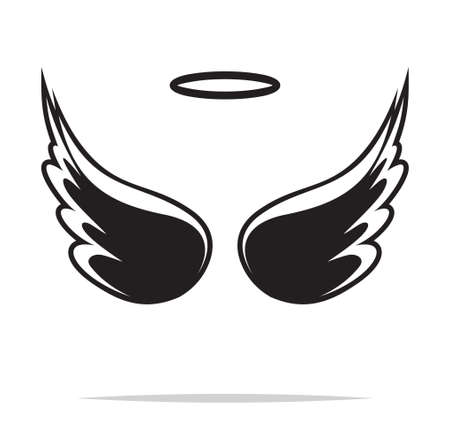wings icon: Angel wings vector illustration