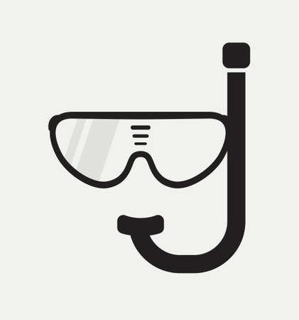 scuba: Scuba diving vector icon Illustration