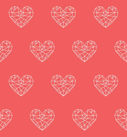coeur diamant: Diamant coeur faible coeur de vecteur poly seamless