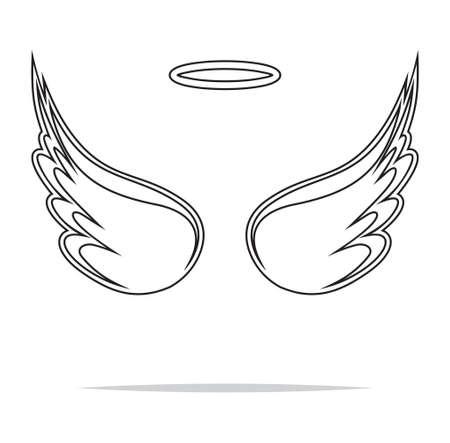 alas de angel: Alas de �ngel ilustraci�n vectorial