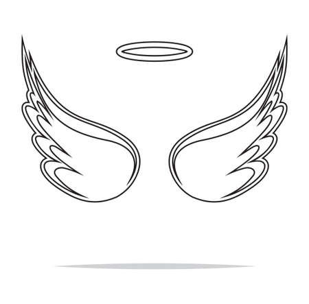 vector artwork: Angel wings vector illustration