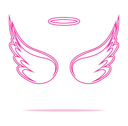 heaven: Angel wings vector illustration
