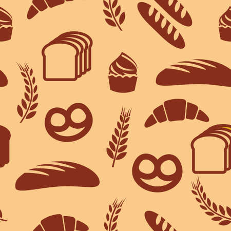 Bakery seamless vector pattern Vector