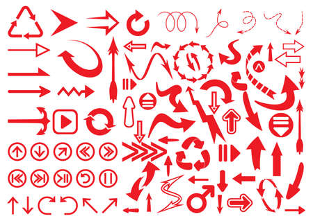 arrow circles: Big arrow set Illustration