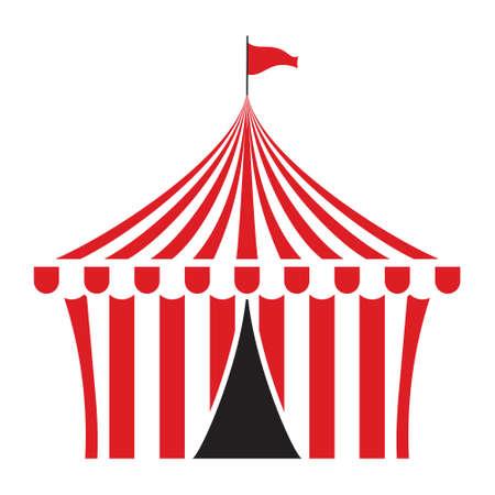 tent vector: Circus tent vector illustration