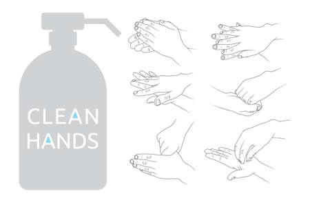 Saubere Hände Vektor-Illustration Standard-Bild - 41431652
