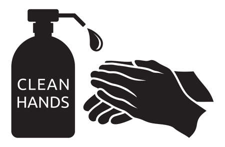 Clean hands vector illustration Çizim