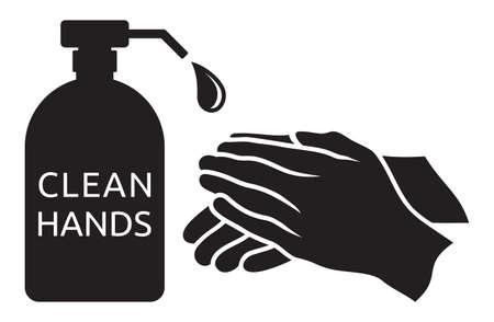 Clean hands vector illustration Vettoriali