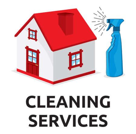 servicio domestico: Servicios de limpieza ilustraci�n vectorial Vectores