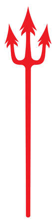 pitchfork: Devil fork  trident vector icon