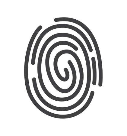 Icona Fingerprint Archivio Fotografico - 41390880