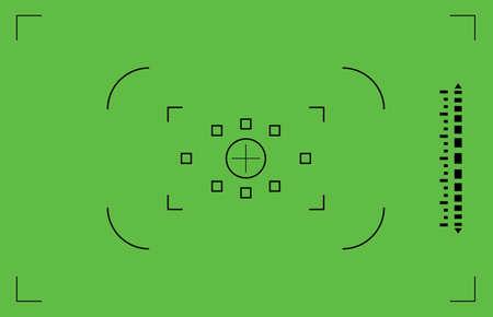 viewfinder: Verde mirino della fotocamera