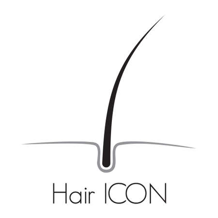 cell growth: Hair growth vector icon