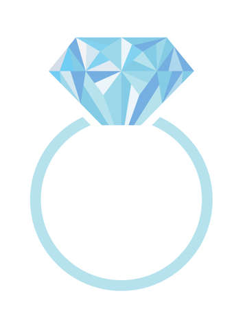 Wedding or engagement ring with diamond