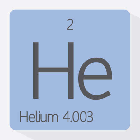 helium: Periodic table Helium Illustration