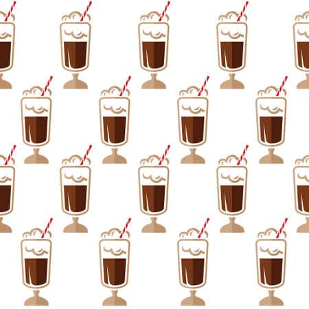 art vector: Coffee seamless pattern Illustration