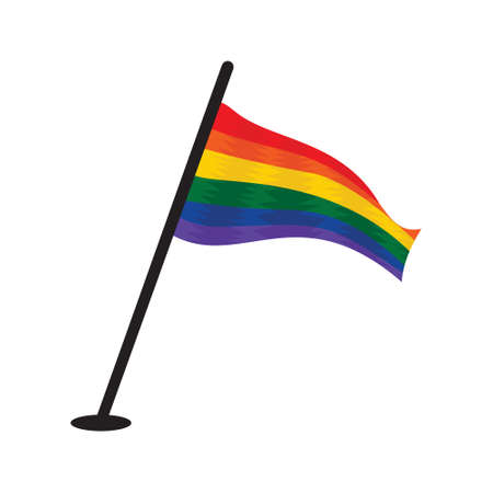gay couple: LGBT flag Illustration