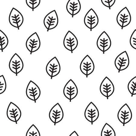 leaf pattern: Leaf seamless vector pattern Illustration
