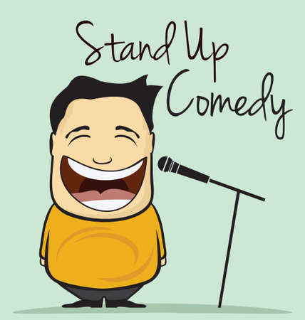 comedy: Stand up comedy vector illustration
