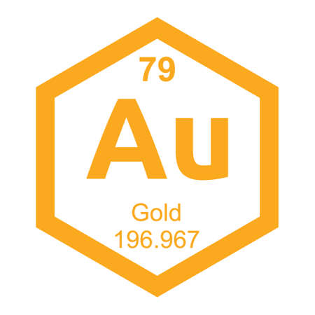 affinity: Periodic table Gold Illustration