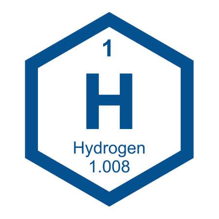 hidrógeno: Periódico El hidrógeno mesa Vectores