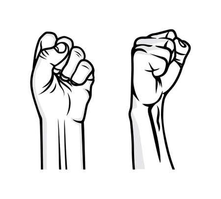 hand stand: Revolution fist vector illustration
