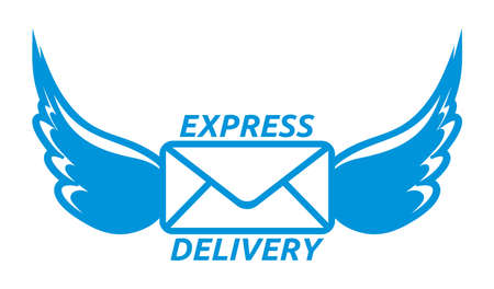 express: Express delivery vector icon Illustration