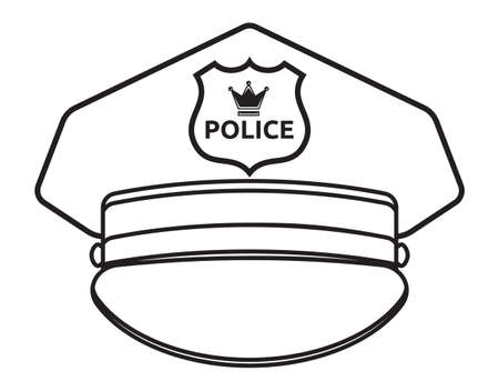 gorra polic�a: Polic�a ilustraci�n vectorial cap