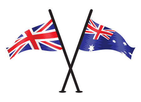 bandera uk: Gran Bretaña y la bandera del vector de Australia