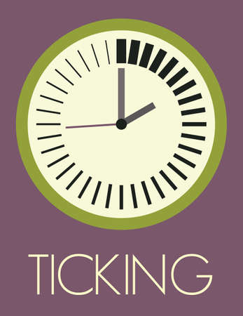 ticking: Time ticking vector illustration Illustration