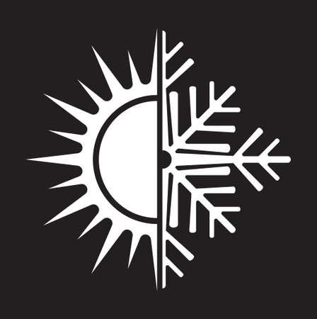ventilate: Air conditioning vector icon  summer winter Illustration