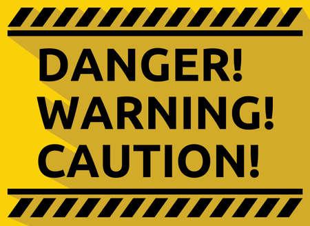 Danger warning caution vector sign Ilustração