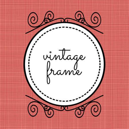 patterns vector: Vintage frame vector
