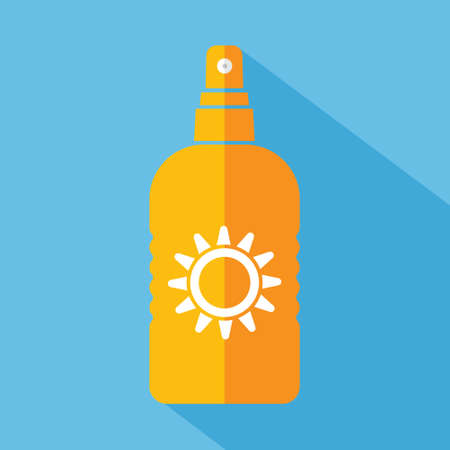 sun protection: Sun protect vector flat icon