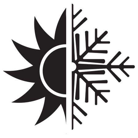 Air conditioning vector icon  summer winter Illustration