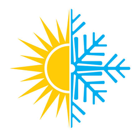 Air conditioning vector icon  summer winter  イラスト・ベクター素材