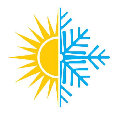 Air conditioning vector icon  summer winter Stock Illustratie