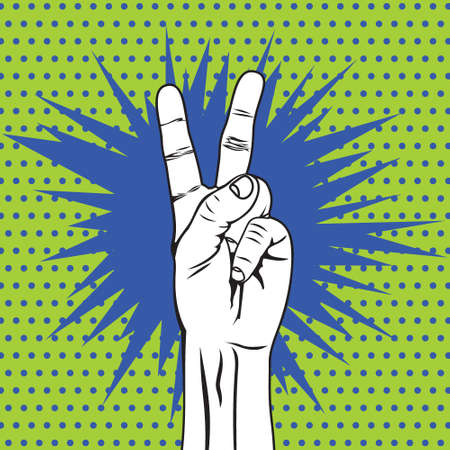 'peace sign': The Victory sign hand gesture