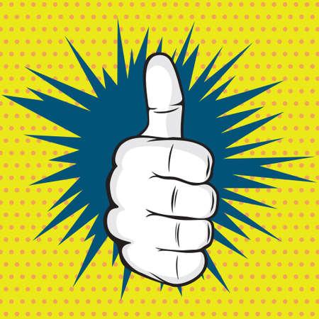 dedo: OK dedo pop da arte da ilustração do vetor Ilustração
