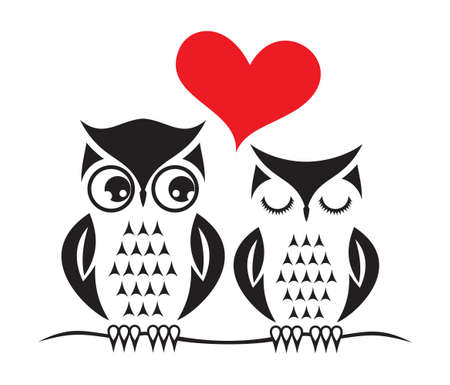 owl: Cute owl love card template
