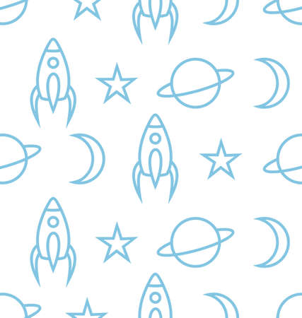 Space vector seamless pattern Vector
