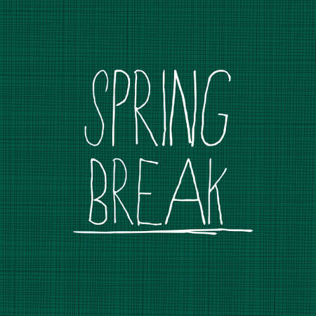 break: Spring break on blackboard