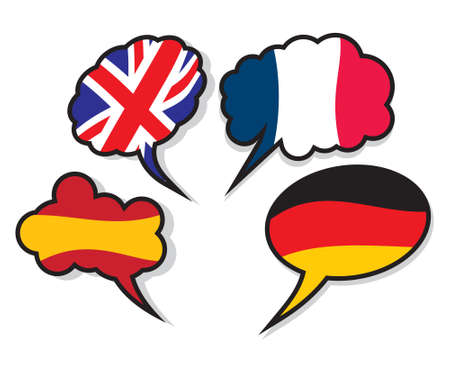 speak english: Language clouds