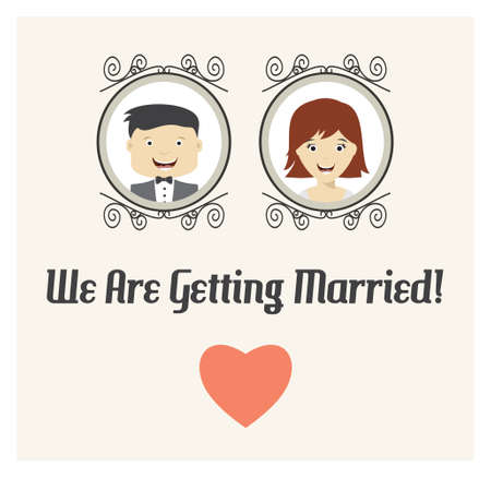 getting married: We are getting married template card