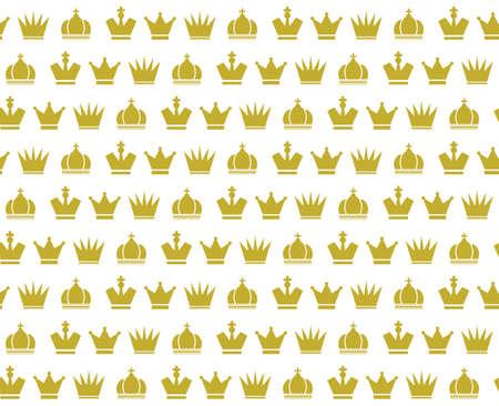 seamless pattern: Crown vector seamless pattern
