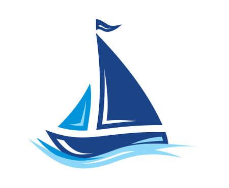 Żaglowiec ikon wektorowych Ilustracje wektorowe