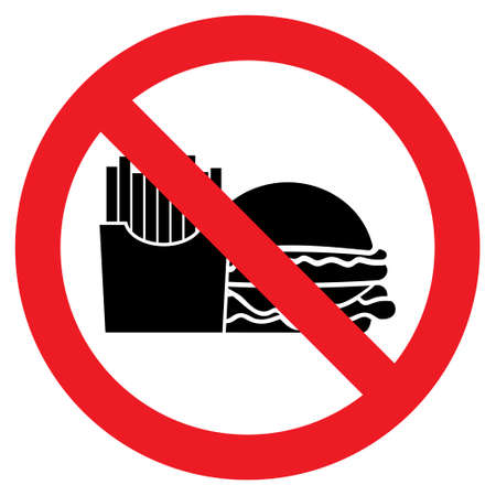 no food: No food vector icon